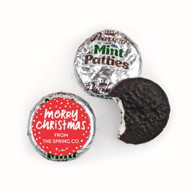 Personalized Bonnie Marcus Christmas Jolly Red Pearson's Mint Patties