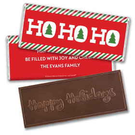 Personalized Bonnie Marcus Christmas Ho Ho Ho's Embossed Chocolate Bar