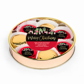Personalized Chocolate Covered Oreo Cookies Christmas Ornaments Large Plastic Tin
