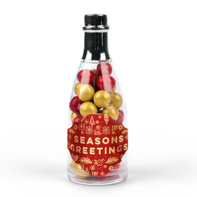 Seasons Greetings Champagne Bottle with Sixlets - 25 Pack