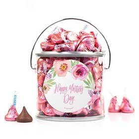 Bonnie Marcus Collection Mother's Day Floral Embrace Silver Paint Can with Sticker