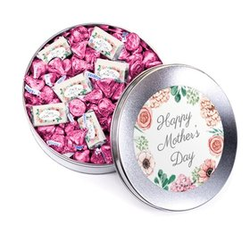 Bonnie Marcus Collection Mother's Day Silver Gift Tin Hershey's Mix