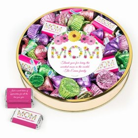 Personalized Mother's Day Large Plastic Tin Hershey's & Peanut Butter Cups Mix