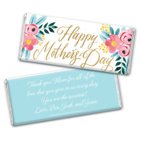 Personalized Bonnie Marcus Mother's Day Floral Chocolate Bar & Wrapper
