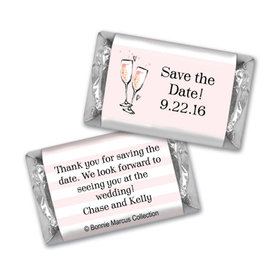 Bonnie Marcus Collection Chocolate Candy Bar and Wrapper The Bubbly Custom Save the Date