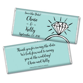 Bonnie Marcus Collection Personalized Chocolate Bar Chocolate and Wrapper Last Fling Save the Date Favor