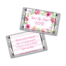 Bonnie Marcus Collection Chocolate Candy Bar & Wrapper Floral Embrace Save the Date Favors