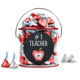 Bonnie Marcus Collection Teacher Appreciation Apple Red Paint Can with Sticker