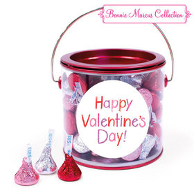 Happy Valentine's Day Message Hershey's Kisses Red Paint Can
