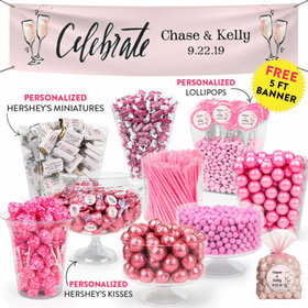 Personalized Wedding Bubbly Deluxe Candy Buffet