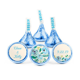 Personalized Bonnie Marcus Wedding Something Blue Hershey's Kisses (50 pack)