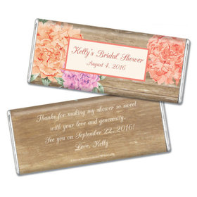 Bonnie Marcus Collection Personalized Chocolate Bar Chocolate and Wrapper Blooming Joy Bridal Shower Favor