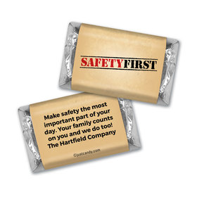 """Personalized National Safety Month """"Safety First"""" Hershey's Miniatures"""