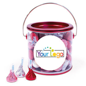 Add Your Logo Valentine's Day Hershey's Kisses Red Paint Can