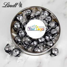 Personalized Add Your Logo Large Silver Lindt Gift Tin