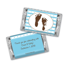 Baby Shower Personalized Hershey's Miniatures Footprints