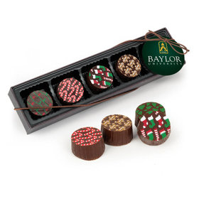Personalized Gourmet Belgian Chocolate Truffle Gift Box - Christmas Add Your Logo