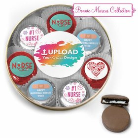 Nurse Appreciation Add Your Logo Chocolate Covered Oreo Cookies Large Plastic Tin