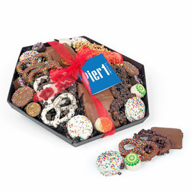 Personalized Christmas Add Your Logo Gourmet Belgian Chocolate Gift Tray