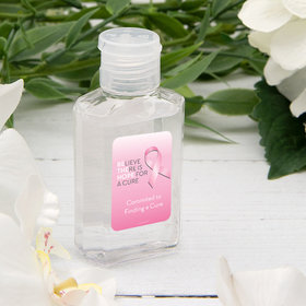 Personalized Hand Sanitizer 2 fl. oz bottle - Breast Cancer Awareness Be the Hope