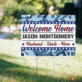 Personalized Welcome Home Navy Yard Sign