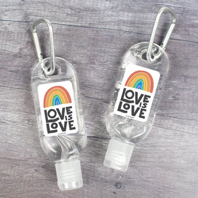 Hand Sanitizer with Carabiner 1 oz Bottle - Love is Love