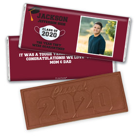 Personalized Quarantine Graduation with Photo Embossed Chocolate Bars