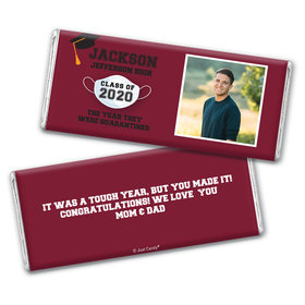 Personalized Quarantine Graduation with Photo Chocolate Bar Wrappers Only