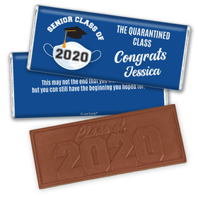 Personalized Quarantine Graduation Embossed Chocolate Bars