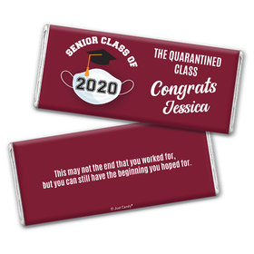 Personalized Quarantine Graduation Chocolate Bar & Wrapper