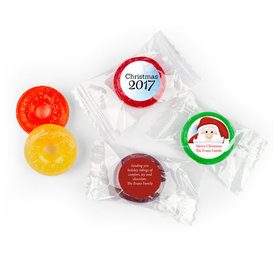 Personalized Christmas Santa Life Savers 5 Flavor Hard Candy