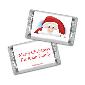 Christmas Personalized Hershey's Miniatures Wrappers Just Santa