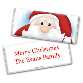 Christmas Personalized Chocolate Bar Wrappers Just Santa