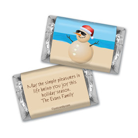 Happy Holidays Personalized Hershey's Miniatures Beach Wishes