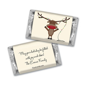 Happy Holidays Personalized Hershey's Miniatures Reindeer Holiday Greetings