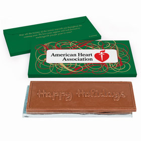 Deluxe Personalized Christmas Ribbons Chocolate Bar in Gift Box
