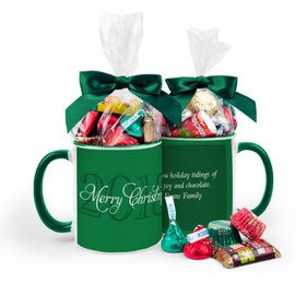 Personalized Christmas Year 11oz Mug with Hershey's Holiday Mix