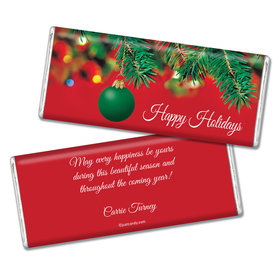 Christmas Personalized Chocolate Bar Happy Holidays Ornament