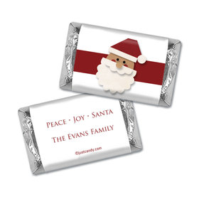 Christmas Personalized Hershey's Miniatures Wrappers Merry Christmas Santa