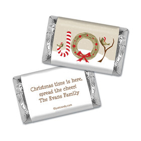 Happy Holidays Personalized Hershey's Miniatures Wrappers Snow Birds Holiday Joy