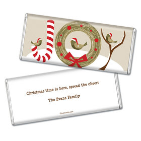 Happy Holidays Personalized Chocolate Bar Wrappers Snow Birds Holiday Joy