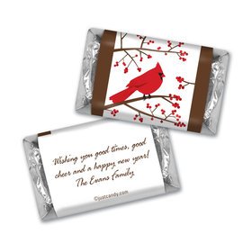 Happy Holidays Personalized Hershey's Miniatures Red Cardinal