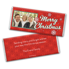 Christmas Personalized Chocolate Bar Wrappers Merry Christmas Photo