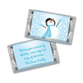 Happy Holidays Personalized Hershey's Miniatures Happy Holidays Frosty Snowman