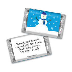 Happy Holidays Personalized Hershey's Miniatures Happy Holidays Snowman