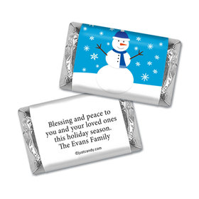 Happy Holidays Personalized Hershey's Miniatures Wrappers Happy Holidays Snowman