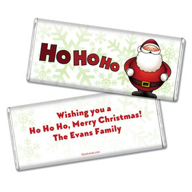Christmas Personalized Chocolate Bar Ho Ho Santa