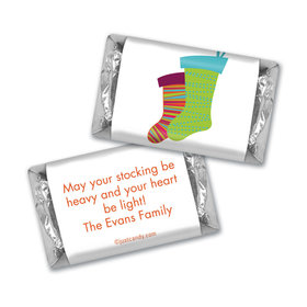 Christmas Personalized Hershey's Miniatures Merry Christmas Stockings