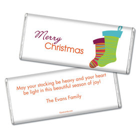 Christmas Personalized Chocolate Bar Merry Christmas Stockings