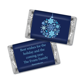Happy Holidays Personalized Hershey's Miniatures Wrappers Season's Greetings Snowflake Ornament